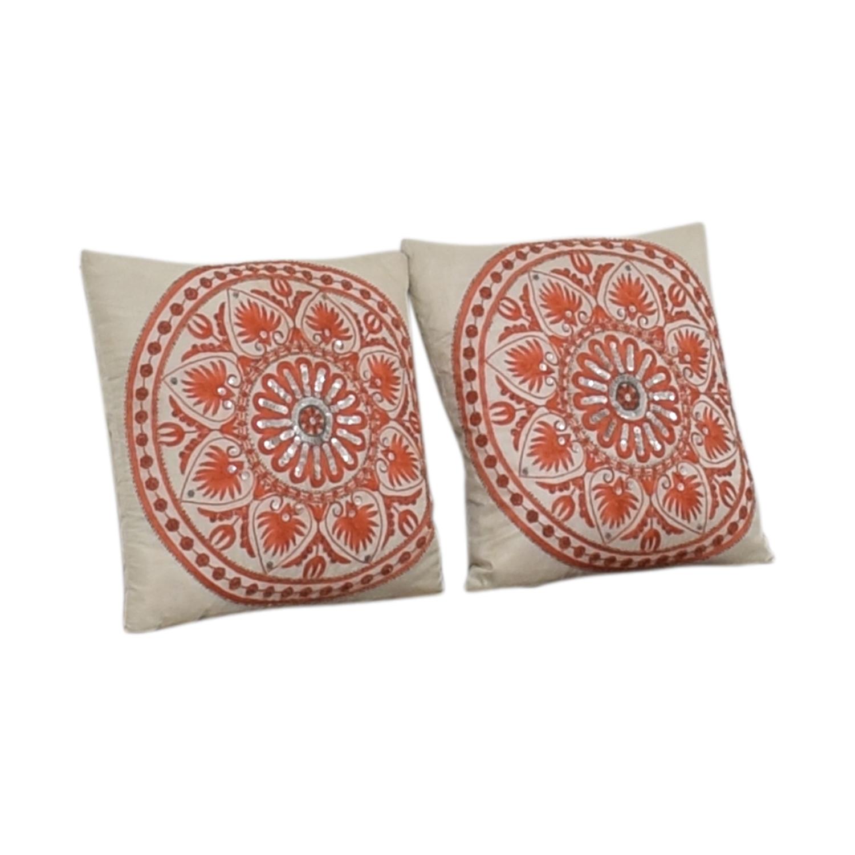 Macy's Orange Accent Pillows / Decor