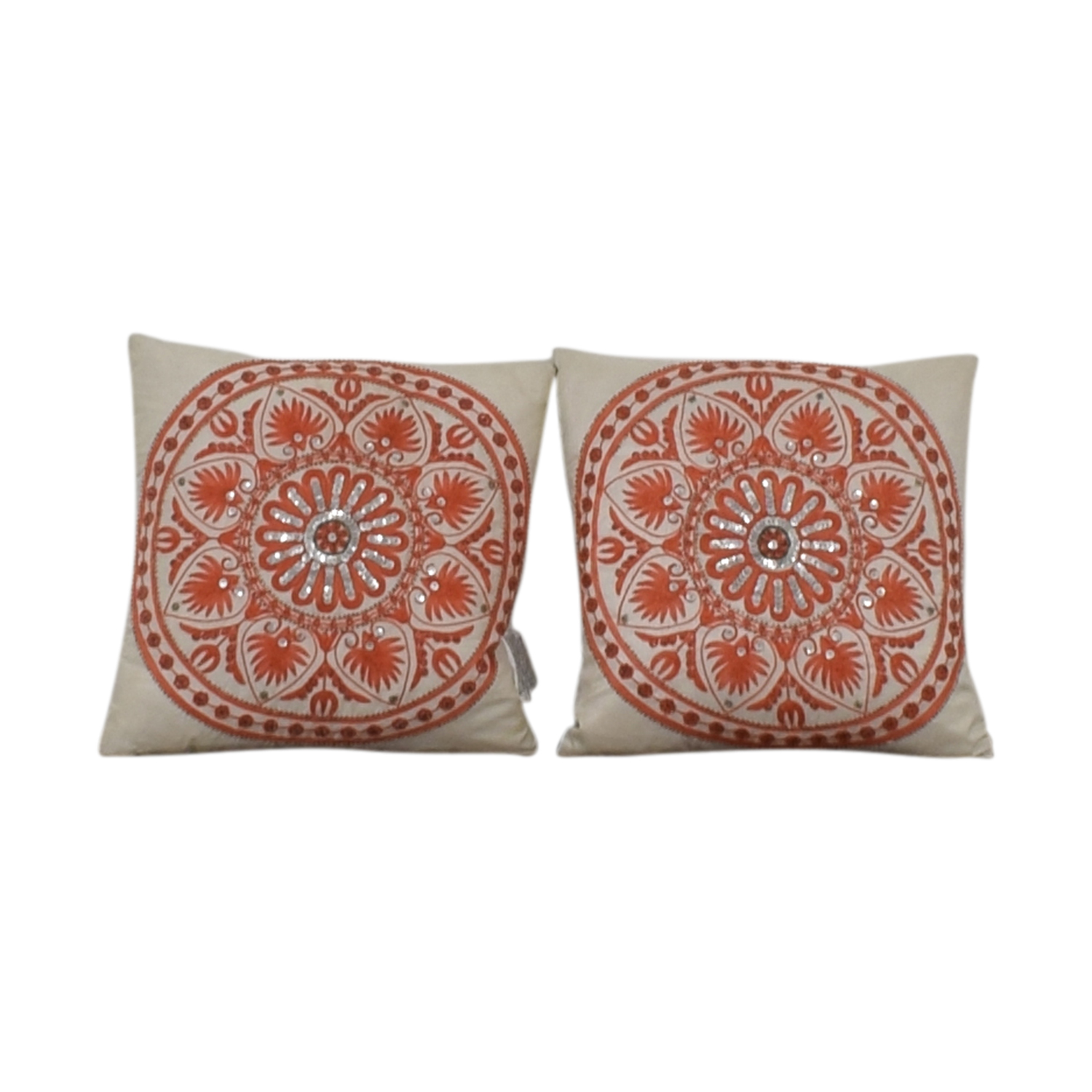 Macy's Macy's Orange Accent Pillows Decor