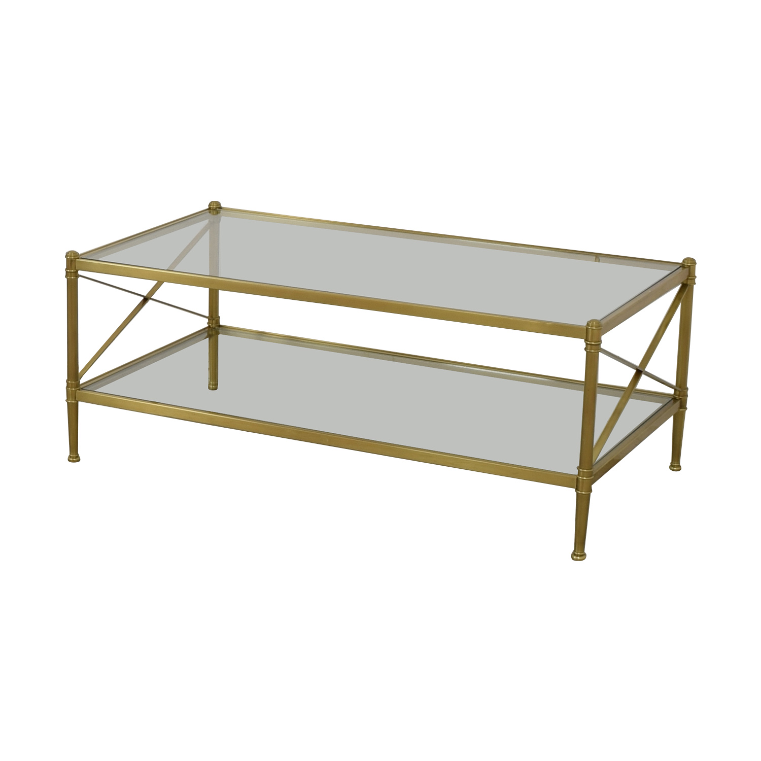 Restoration Hardware Restoration Hardware Glass and Gold Chrome Coffee Table Coffee Tables