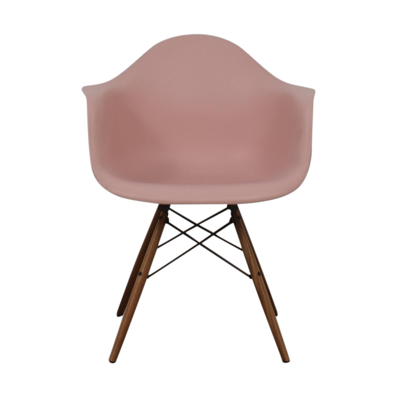 Herman Miller Eames Blush Molded Plastic Dowel Leg Chair / Chairs