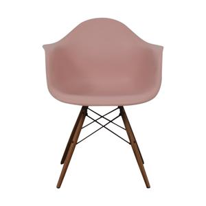 Herman Miller Herman Miller Eames Blush Molded Plastic Dowel Leg Chair nyc