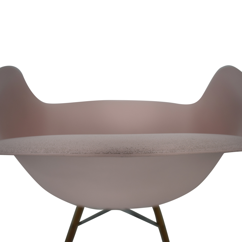 buy Herman Miller Eames Blush Molded Plastic Dowel Leg Chair Herman Miller