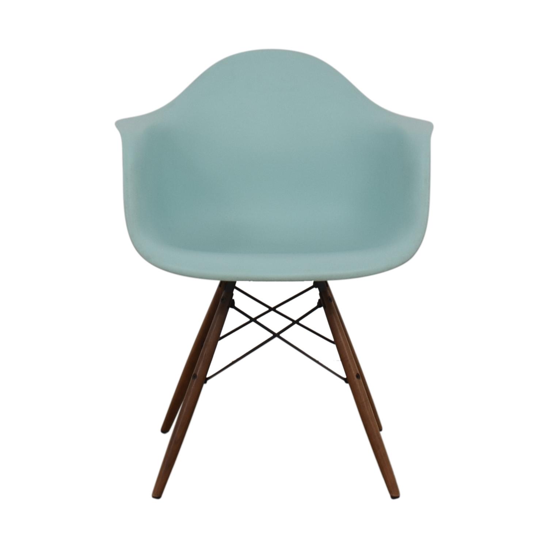 Herman Miller Herman Miller Eames Aqua Sky Molded Plastic Dowel-Leg Armchair dimensions