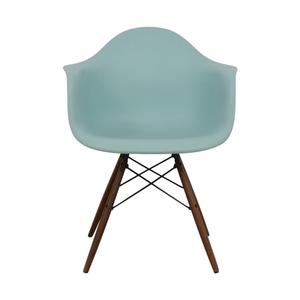 Herman Miller Herman Miller Eames Aqua Sky Molded Plastic Dowel-Leg Armchair discount
