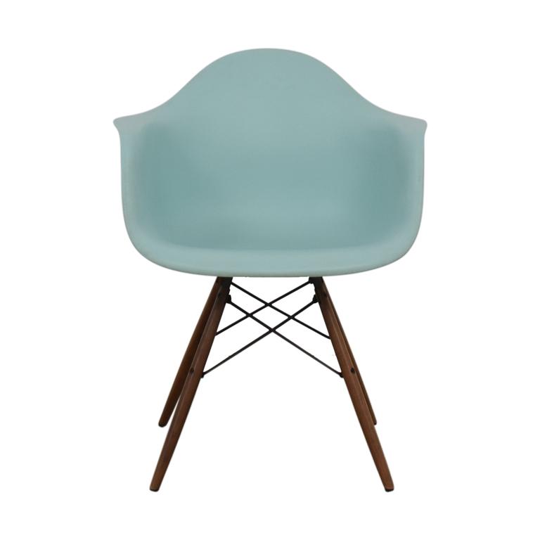 Herman Miller Herman Miller Eames Aqua Sky Molded Plastic Dowel-Leg Armchair