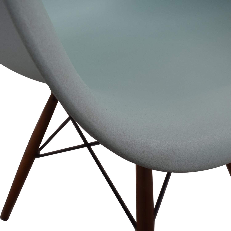 Herman Miller Eames Aqua Sky Molded Plastic Dowel-Leg Armchair / Chairs