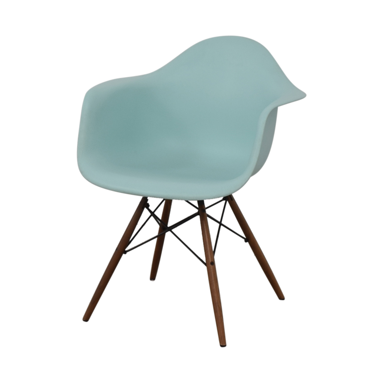 Herman Miller Eames Aqua Sky Molded Plastic Dowel-Leg Armchair sale