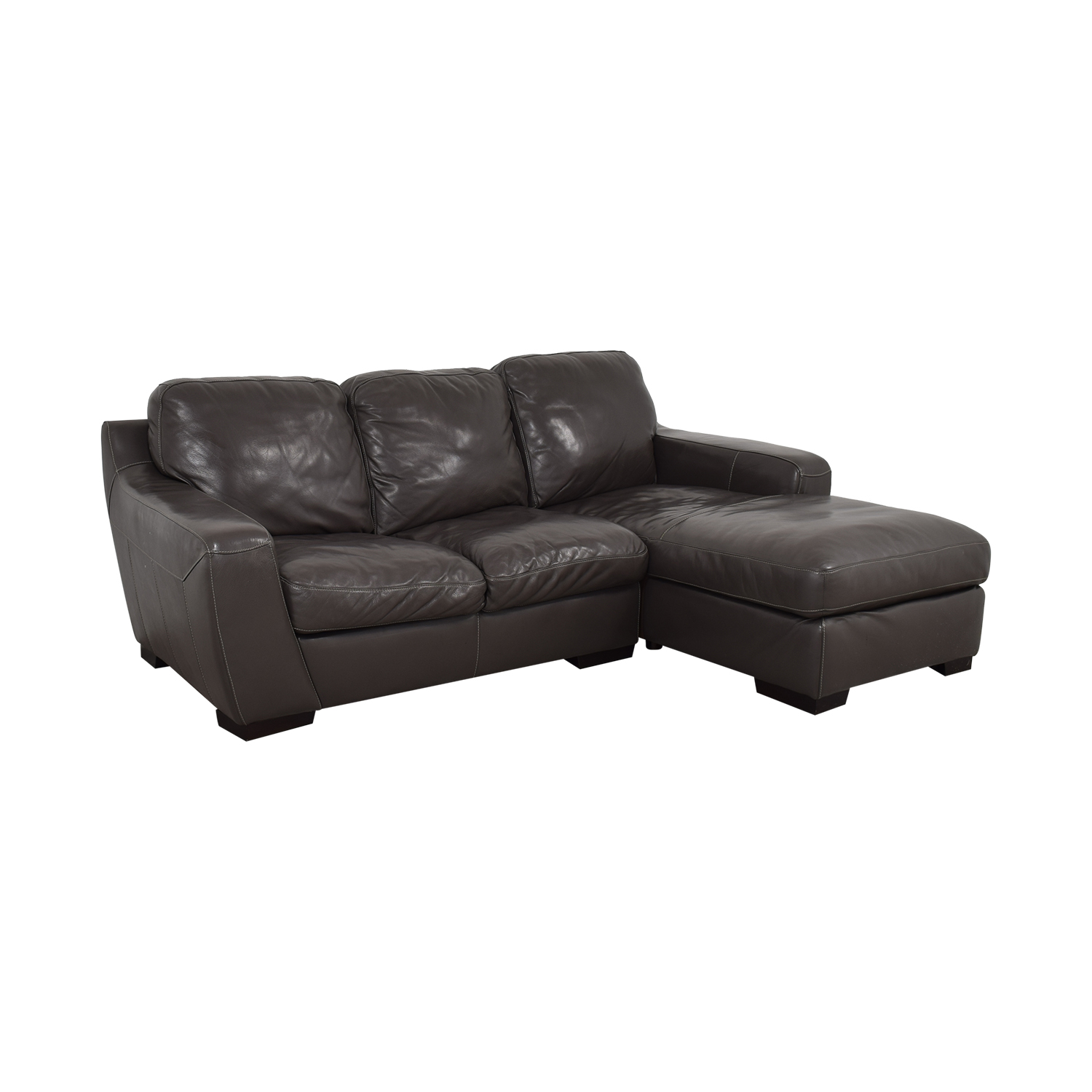 shop Raymour & Flanigan Raymour & Flanigan Stone Chaise Sectional online