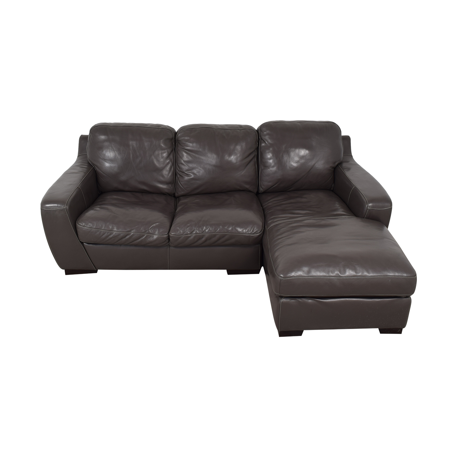 Raymour & Flanigan Raymour & Flanigan Stone Chaise Sectional coupon
