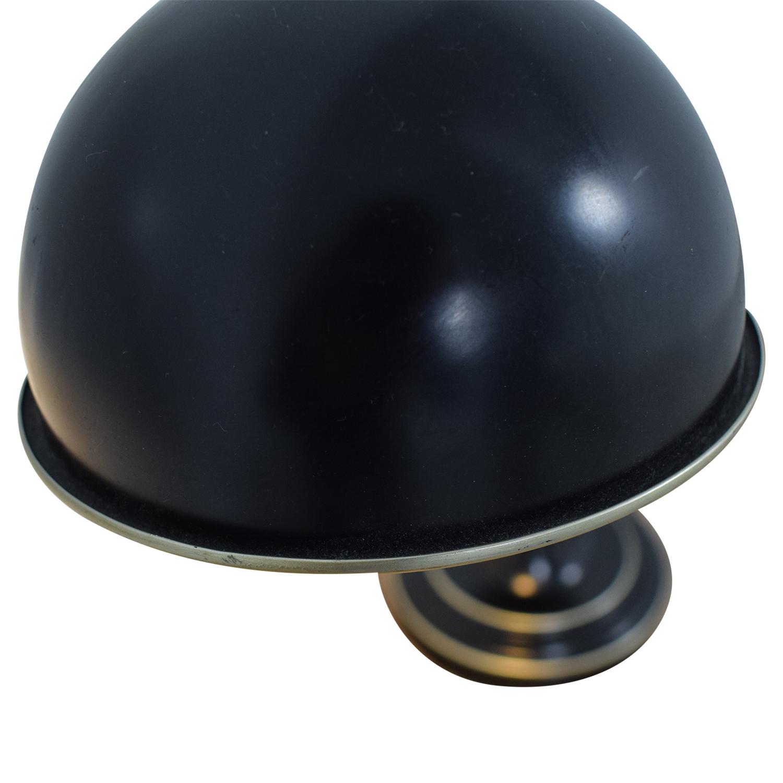 Black & Silver Steel Adjustable Lever Desk Lamp discount