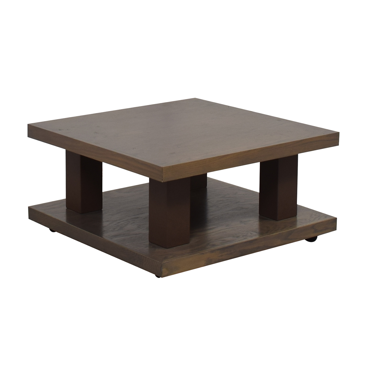 aspenhome Grey Driftwood Square Coffee Table On Wheels / Coffee Tables