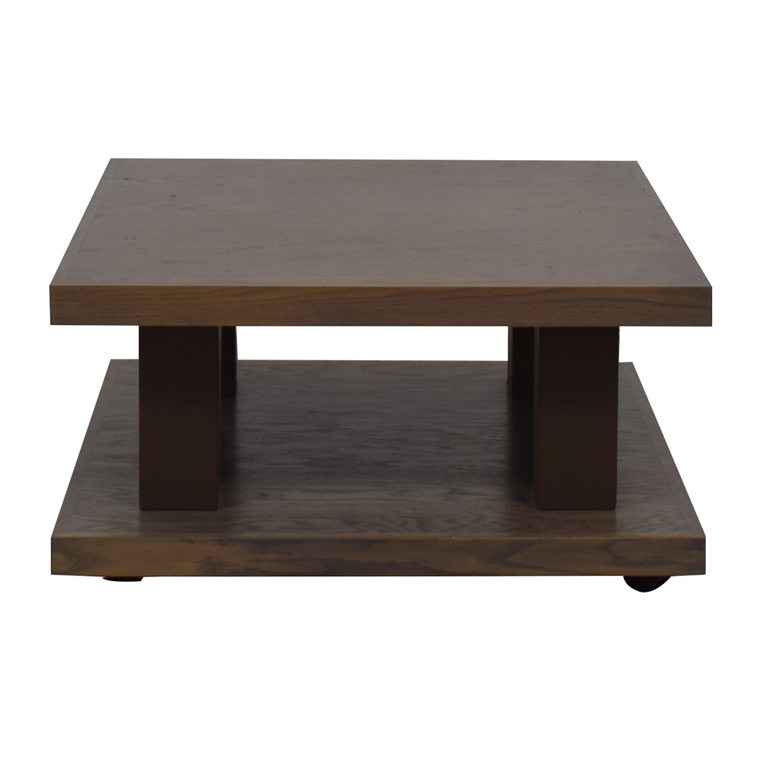 shop aspenhome Grey Driftwood Square Coffee Table On Wheels aspenhome Tables
