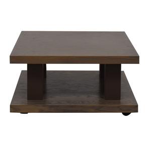 aspenhome Grey Driftwood Square Coffee Table On Wheels aspenhome