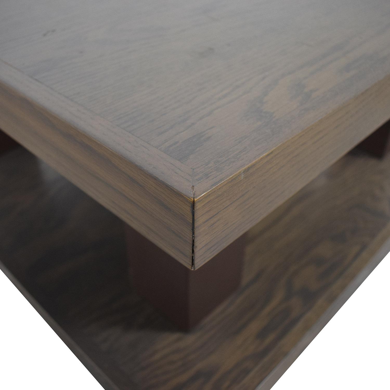 shop aspenhome Grey Driftwood Square Coffee Table On Wheels aspenhome