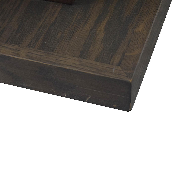 aspenhome aspenhome Grey Driftwood Square Coffee Table On Wheels nj