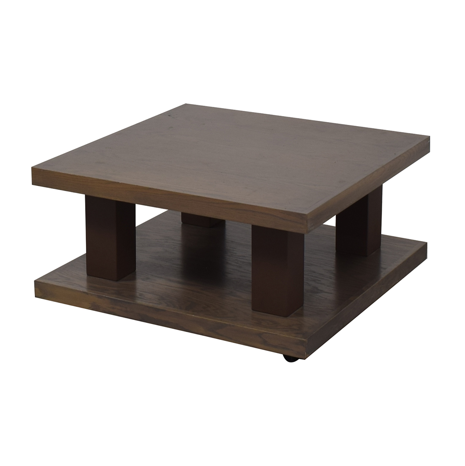 buy aspenhome Grey Driftwood Square Coffee Table On Wheels aspenhome