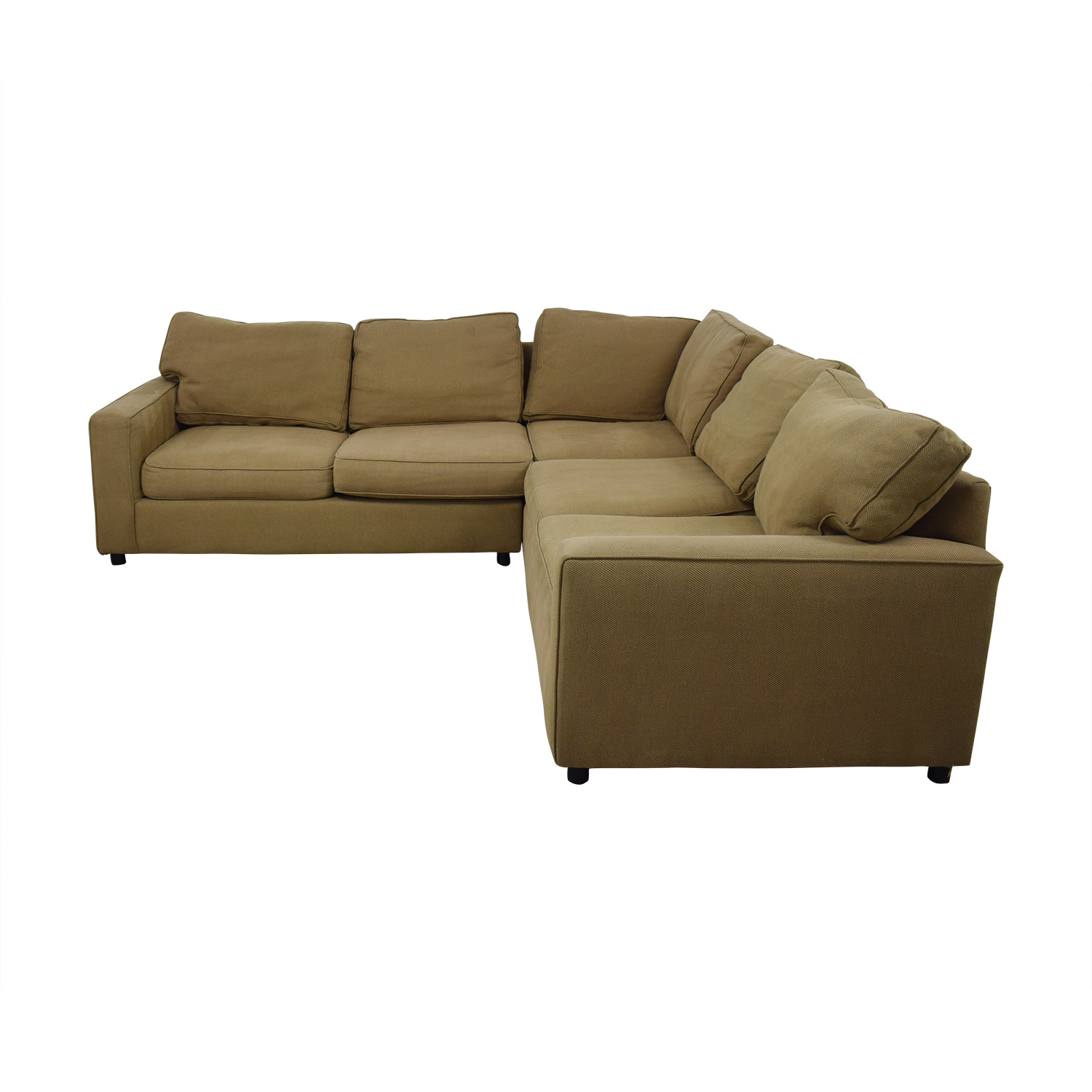 Pottery Barn Pottery Barn Beige L-Shaped Sectional discount