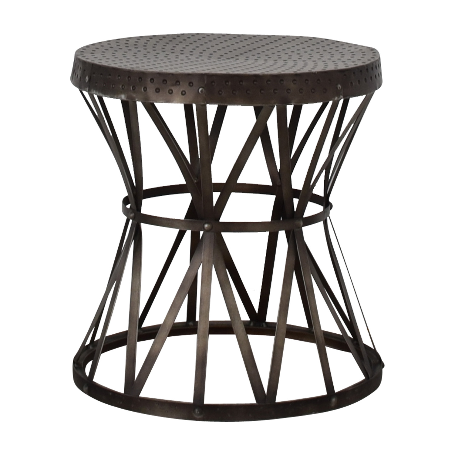 Coast to Coast Imports Coast to Coast Imports Round Metal End Table discount