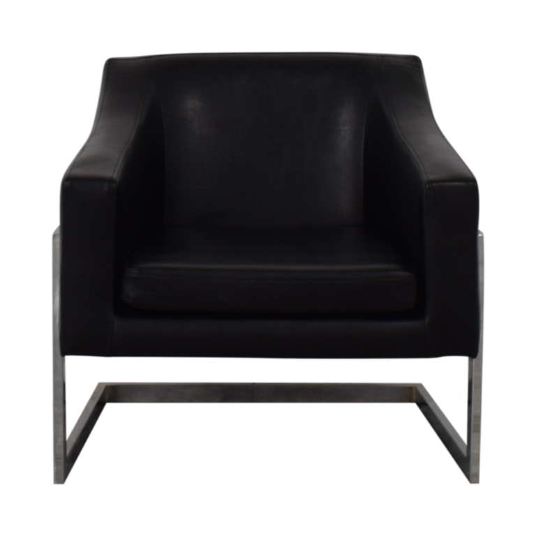 Coaster Fine Furniture Coaster Fine Furniture Black Leatherette Accent Chair second hand