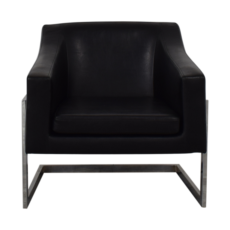 Coaster Fine Furniture Coaster Fine Furniture Black Leatherette Accent Chair