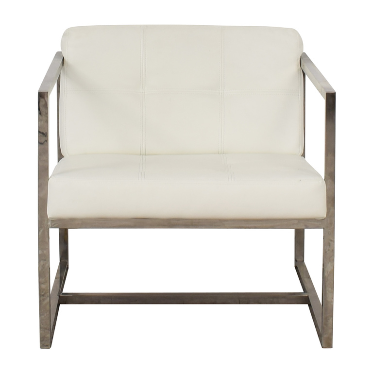 buy Modway Hover White Lounge Chair Modway