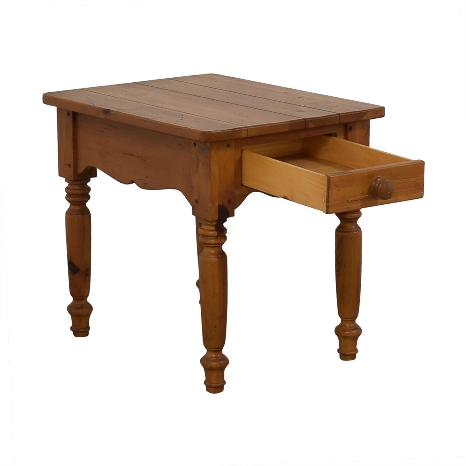Ethan Allen Ethan Allen Dovetailed Single Drawer End Table discount