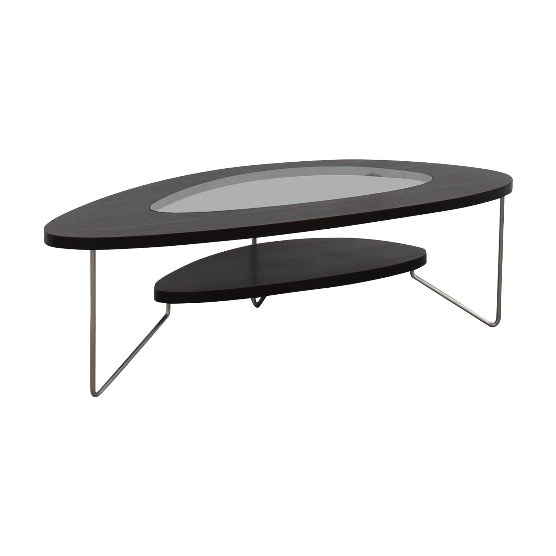 BDI Furniture Glass Wood and Metal Drop Coffee Table BDI Furniture