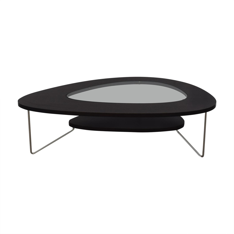 shop BDI Furniture BDI Furniture Glass Wood and Metal Drop Coffee Table online