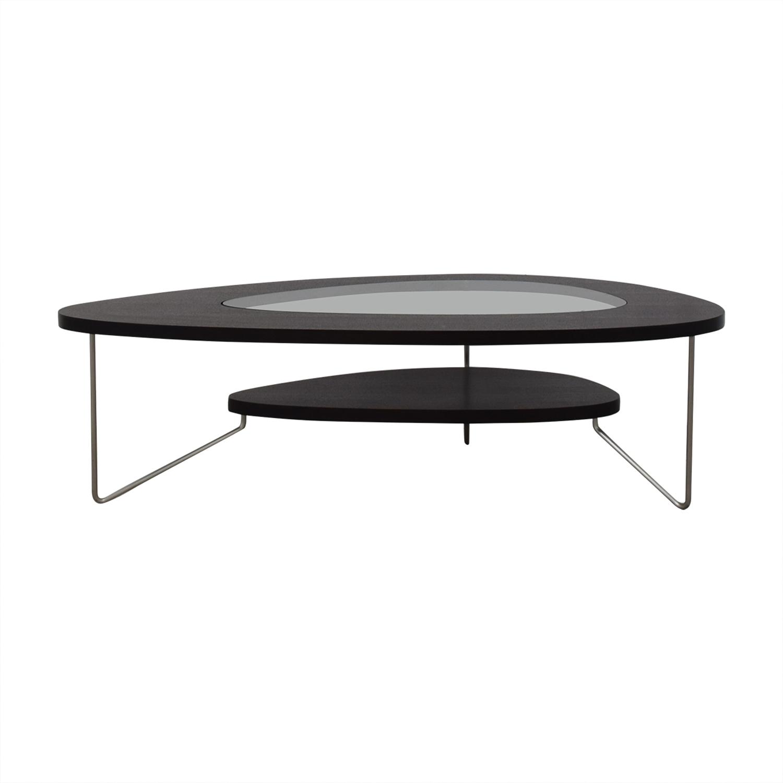 BDI Furniture BDI Furniture Glass Wood and Metal Drop Coffee Table nj