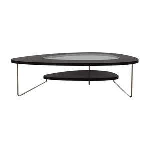 BDI Furniture BDI Furniture Glass Wood and Metal Drop Coffee Table coupon