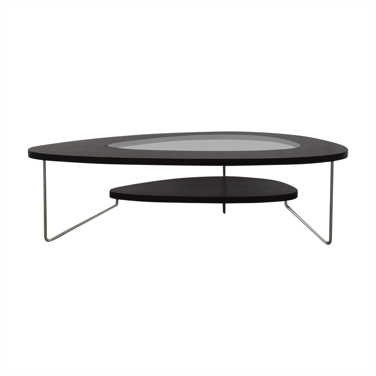 BDI Furniture BDI Furniture Glass Wood and Metal Drop Coffee Table nyc