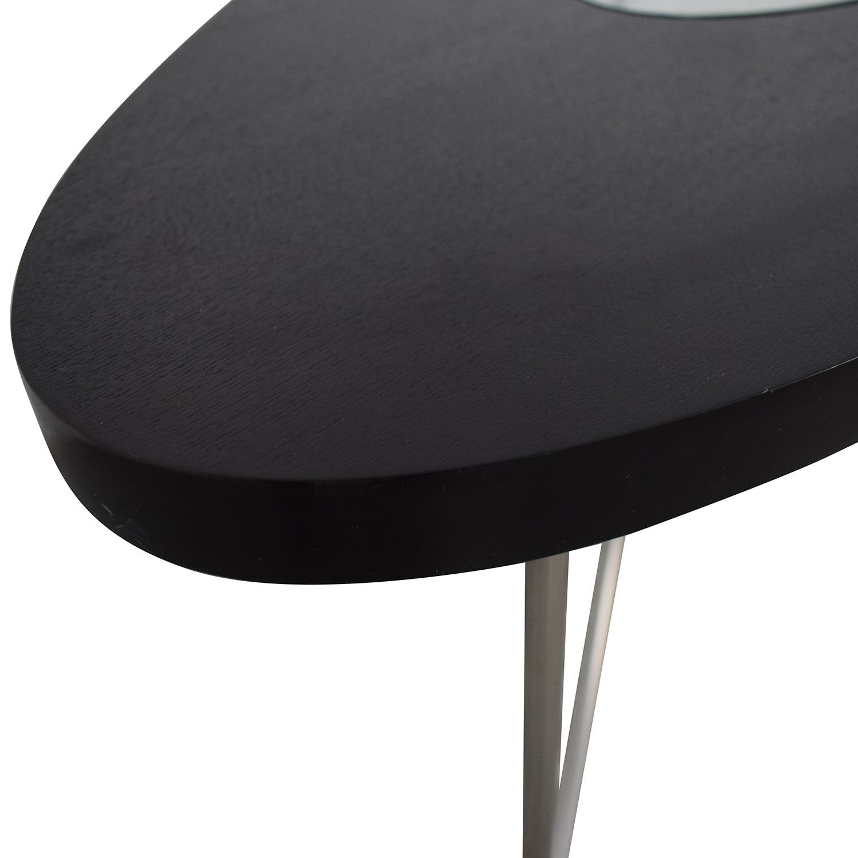 buy BDI Furniture Glass Wood and Metal Drop Coffee Table BDI Furniture