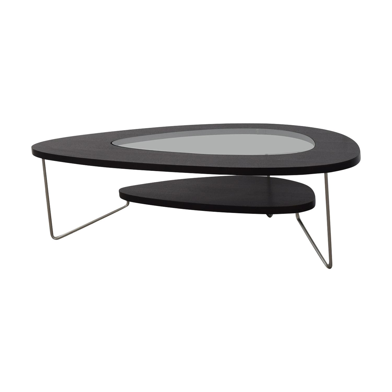 buy BDI Furniture Glass Wood and Metal Drop Coffee Table BDI Furniture Coffee Tables