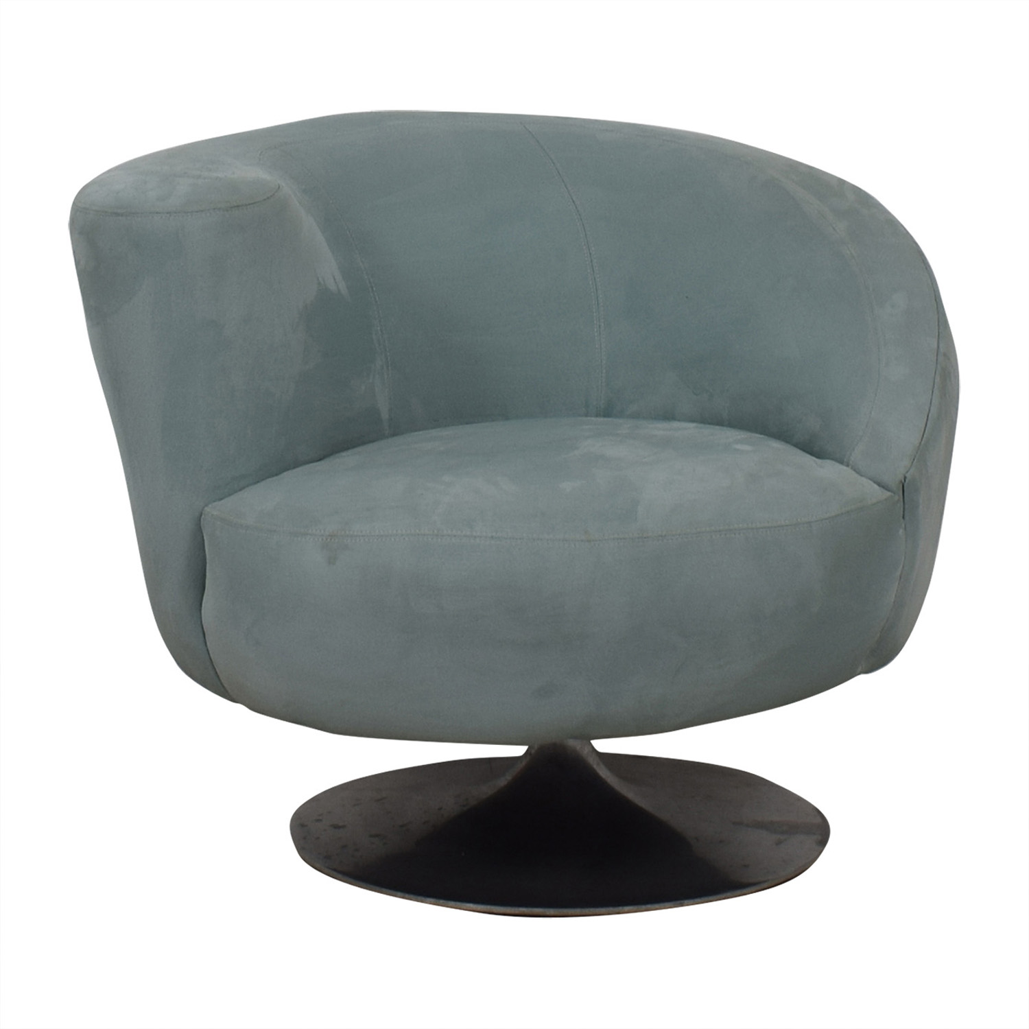 shop Jennifer Furniture Powder Blue Swivel Accent Chair Jennifer Furniture Accent Chairs