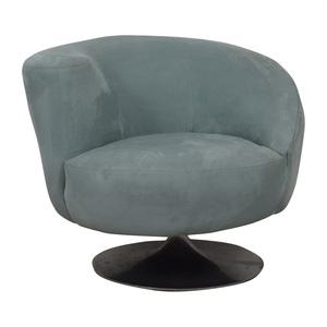 Jennifer Furniture Jennifer Furniture Powder Blue Swivel Accent Chair nj