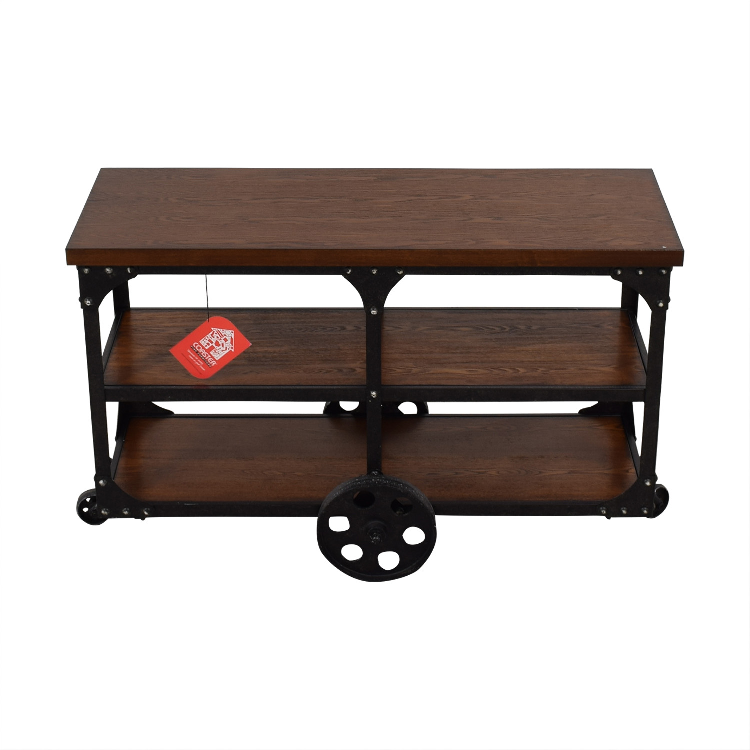 Coaster Fine Furniture Coaster Fine Furniture Rustic Industrial Roller Cart Sofa Table coupon