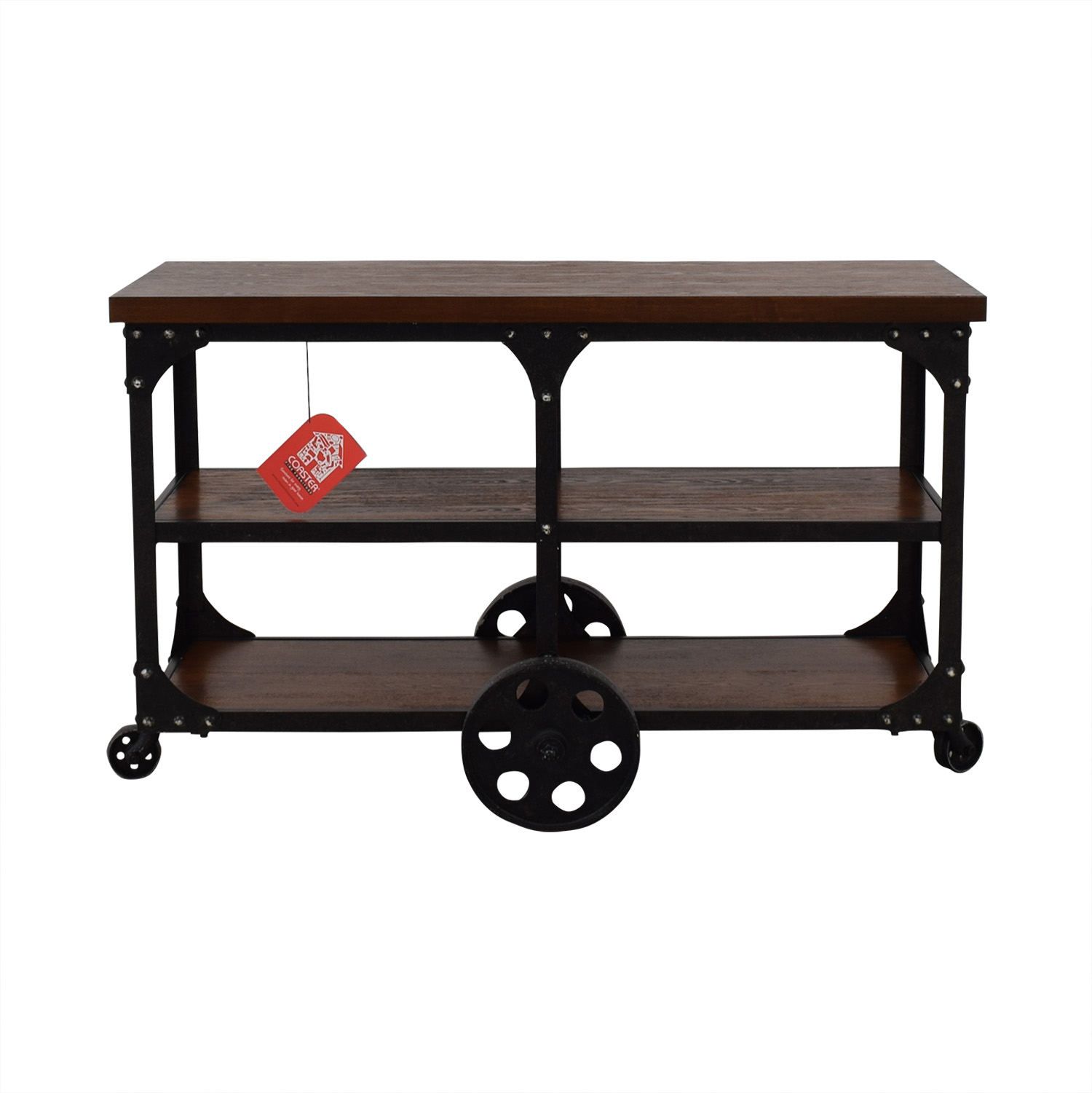 buy Coaster Fine Furniture Coaster Fine Furniture Rustic Industrial Roller Cart Sofa Table online