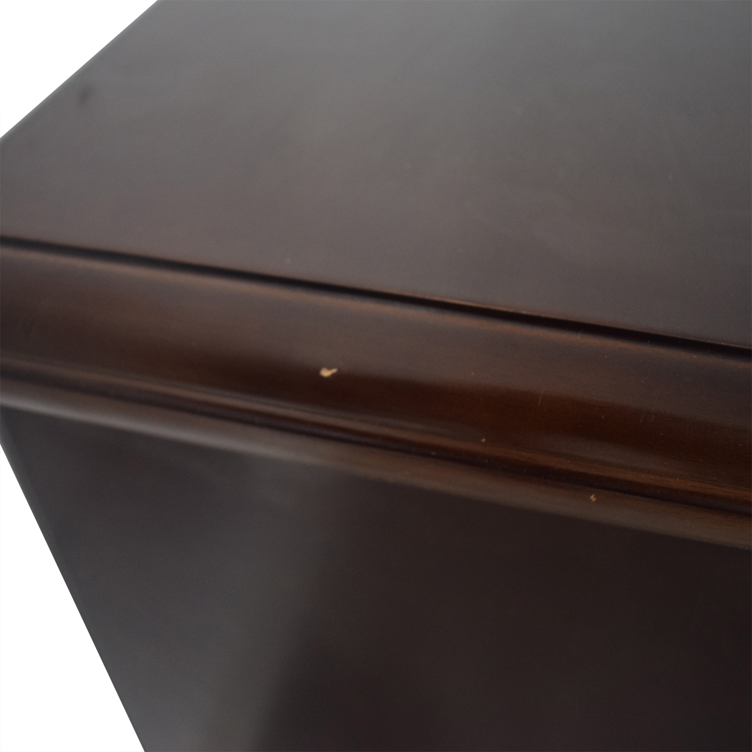 Wood Two-Drawer End Table brown