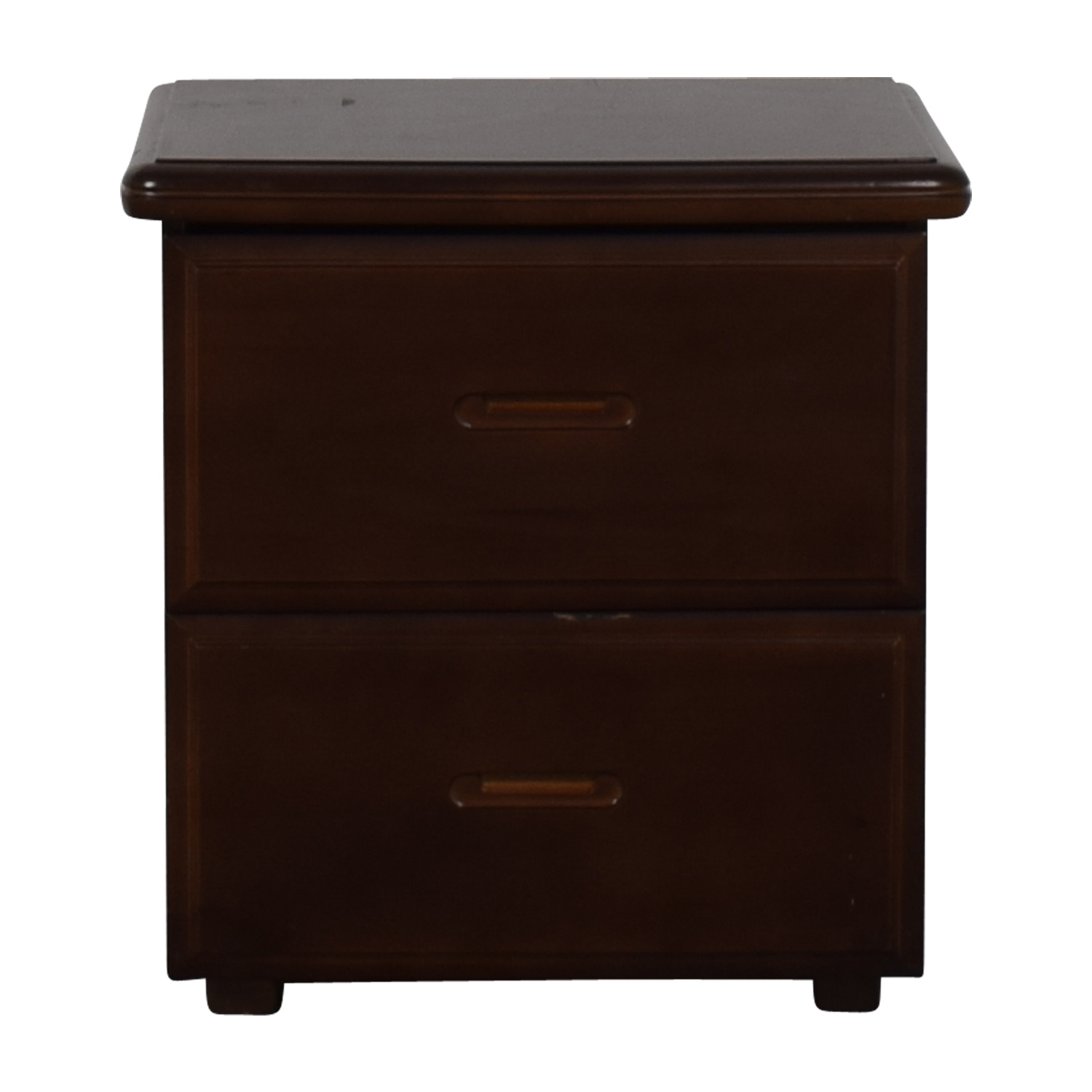 shop Wood Two-Drawer End Table  Tables