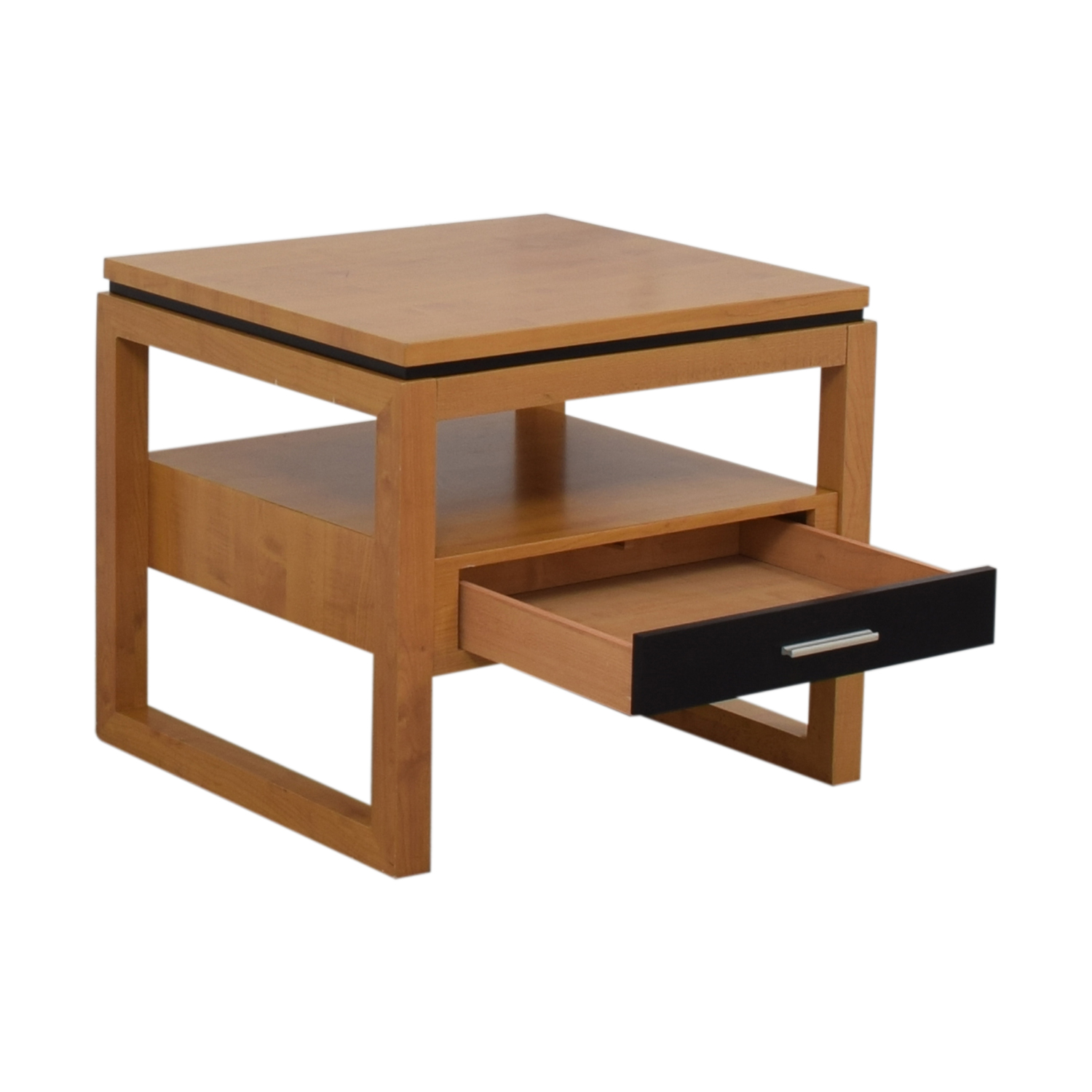 Coaster Coaster Black Single Drawer Natural Finish End Table second hand