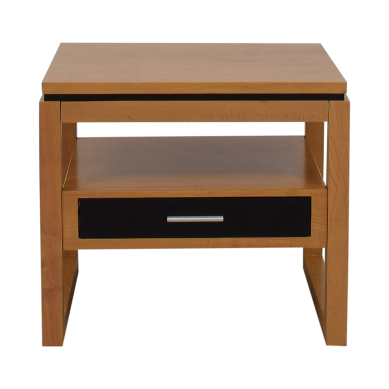 Coaster Coaster Black Single Drawer Natural Finish End Table price