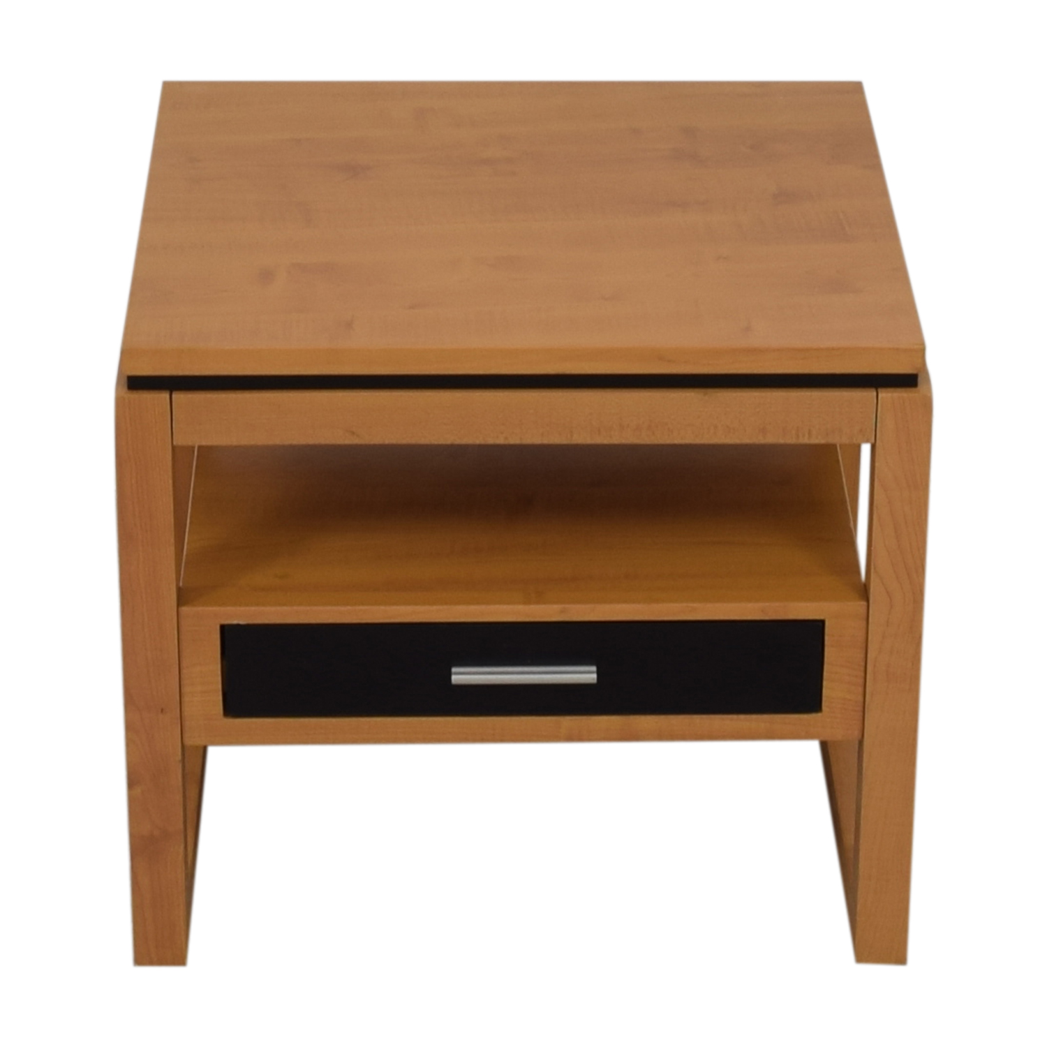 buy Coaster Black Single Drawer Natural Finish End Table Coaster Tables