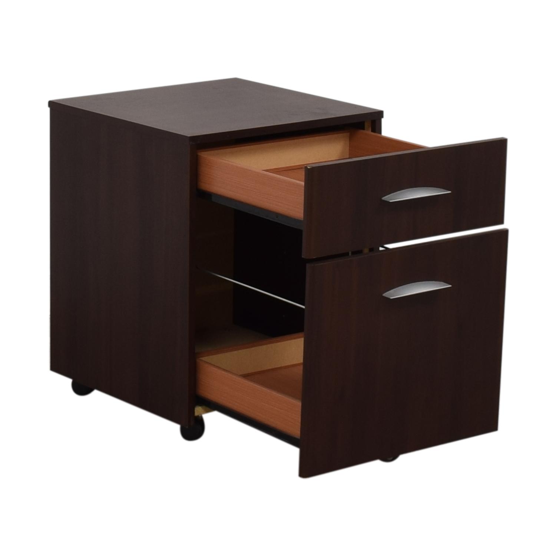 Dark Brown File Cabinet Dark Brown