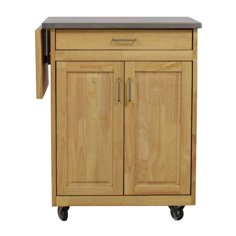 shop Bed Bath & Beyond Bed Bath & Beyond Wooden Kitchen Cart online