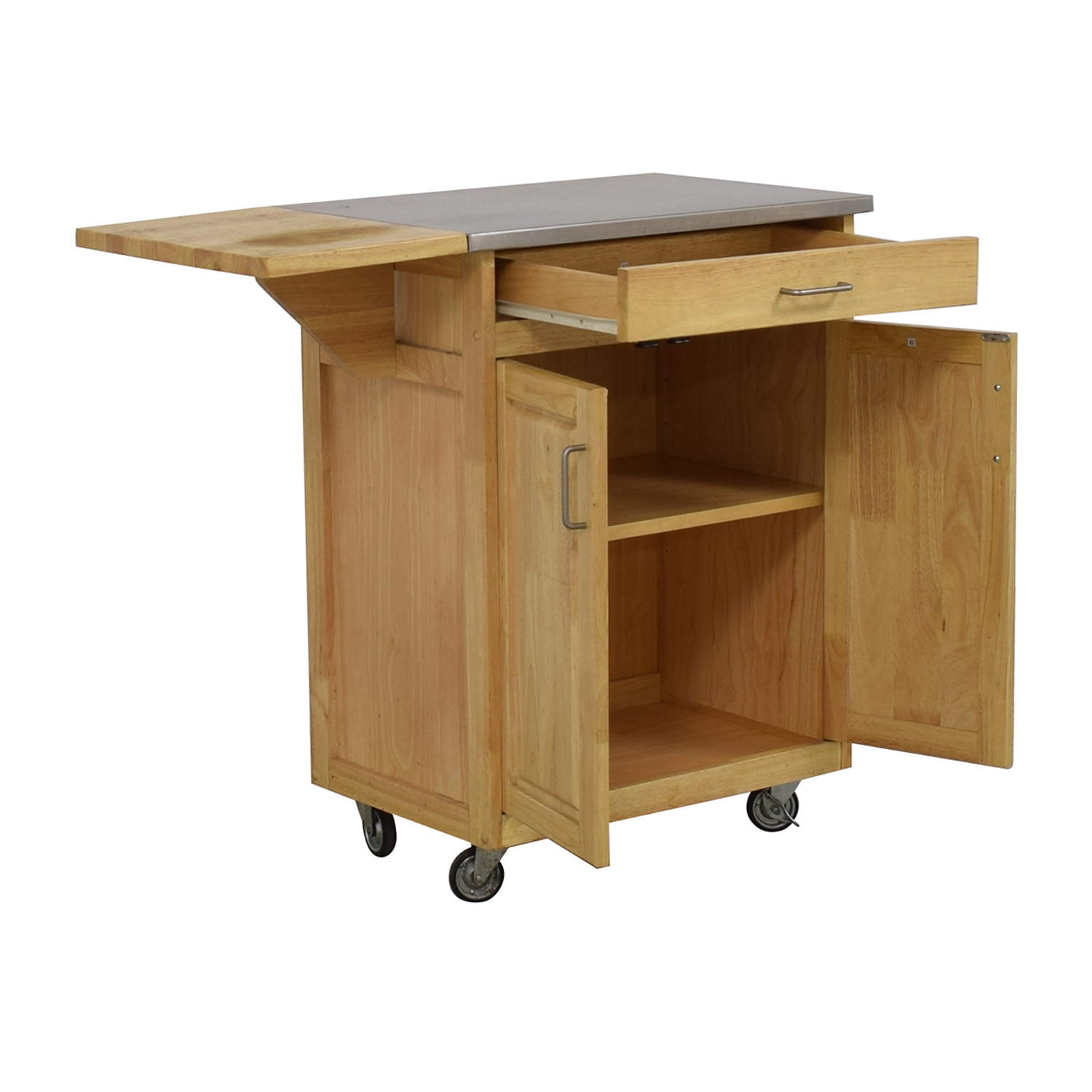 Bed Bath & Beyond Bed Bath & Beyond Wooden Kitchen Cart used