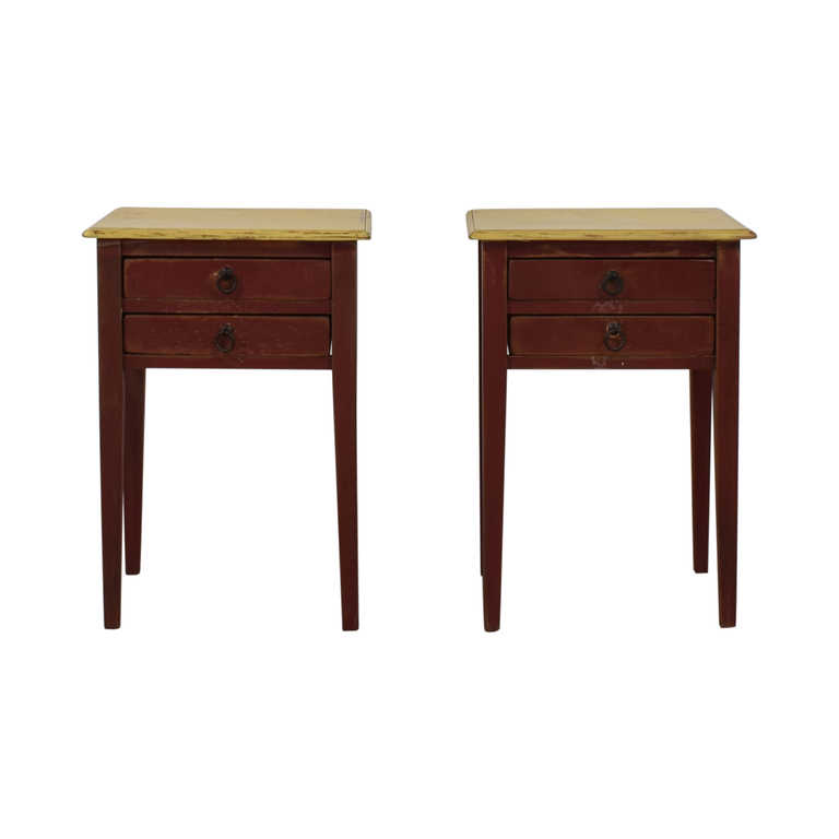 Rustic Two-Drawer End Tables used