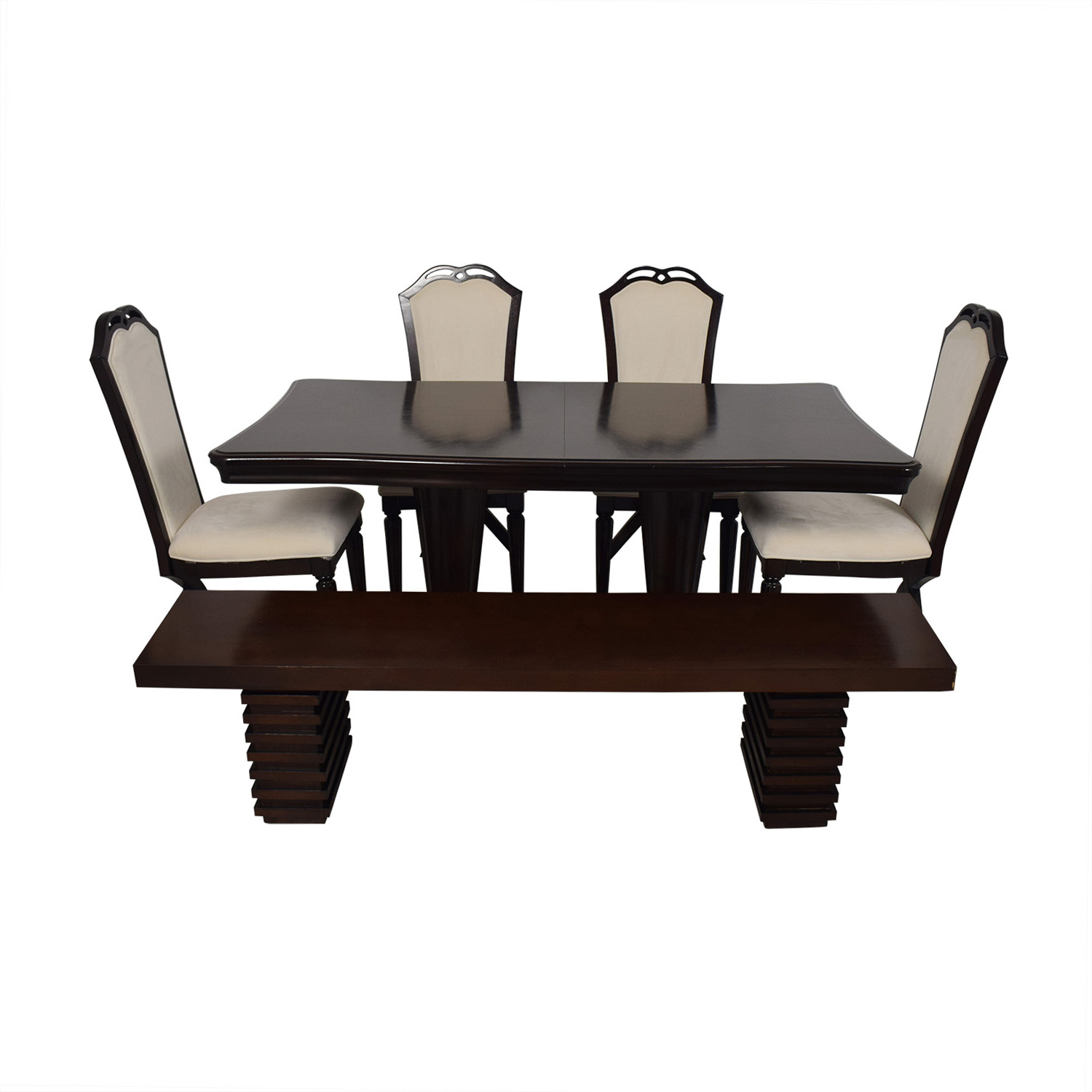 buy Raymour and Flanigan Extendable Dining Set with Bench Raymour & Flanigan Dining Sets