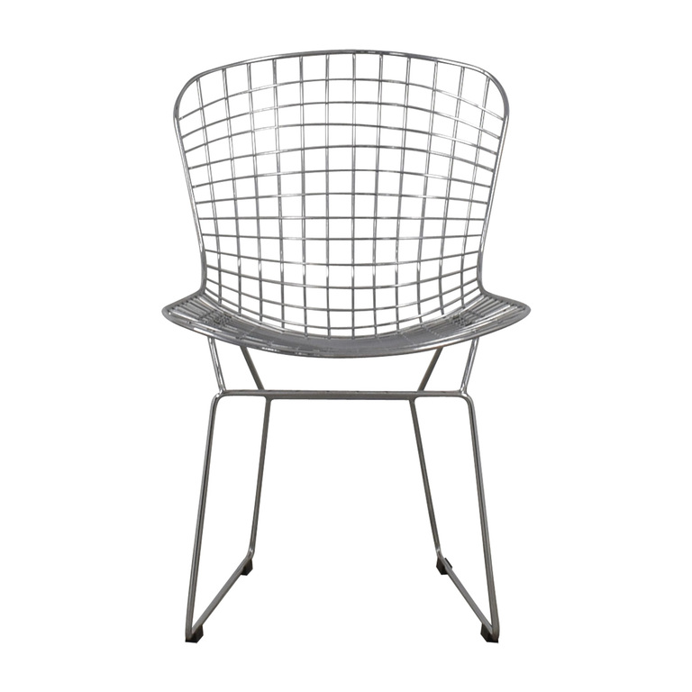 Mid-Century Chrome Wire Chair discount
