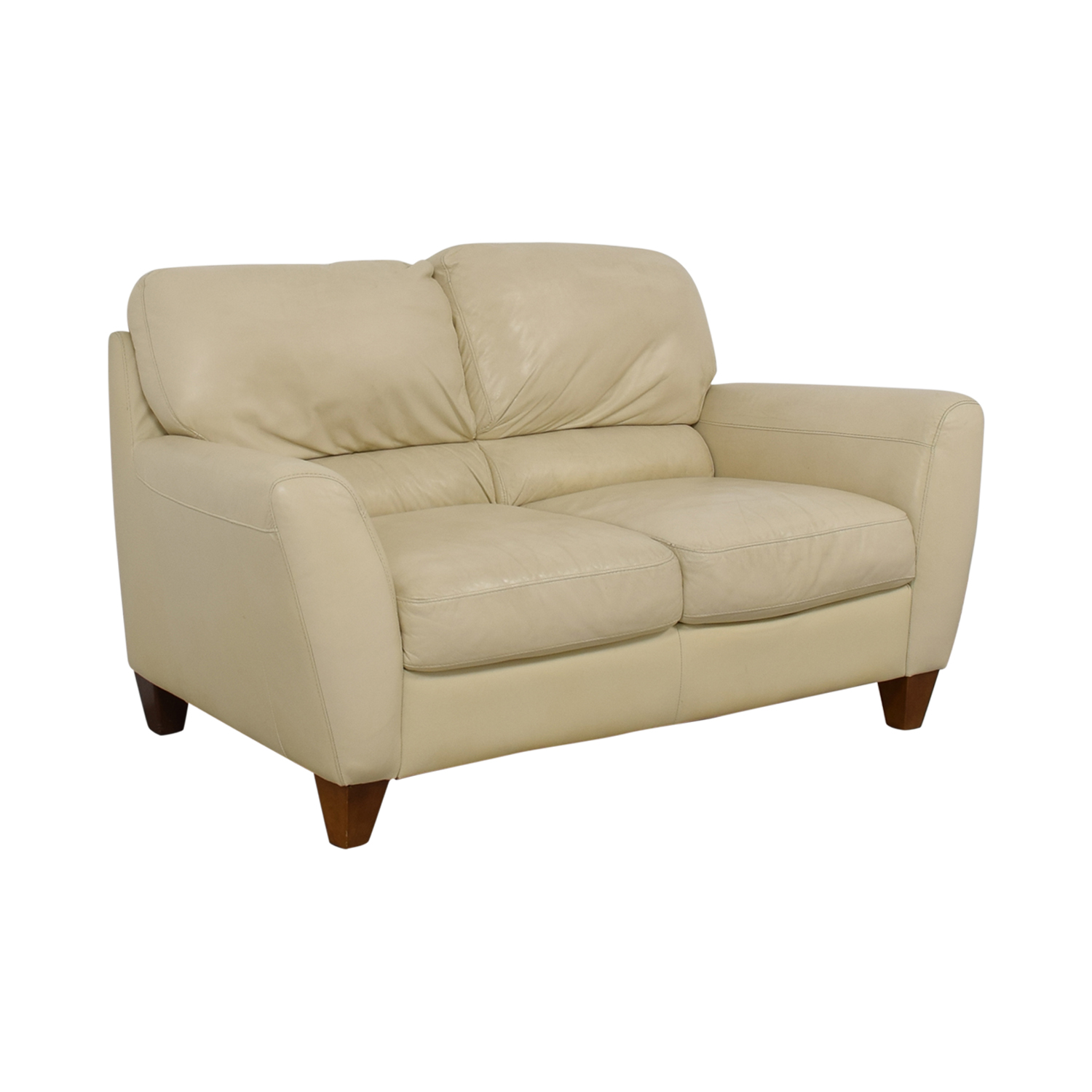 Macy's White Two-Cushion Loveseat sale