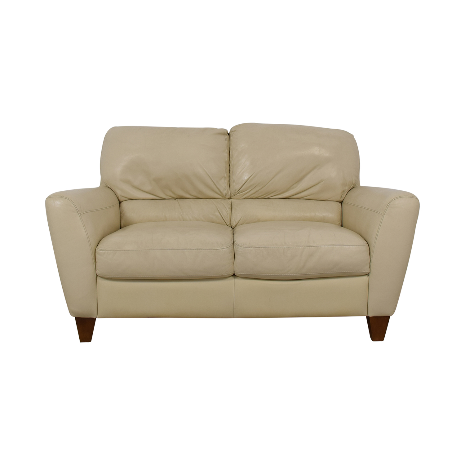 shop Macy's White Two-Cushion Loveseat Macy's